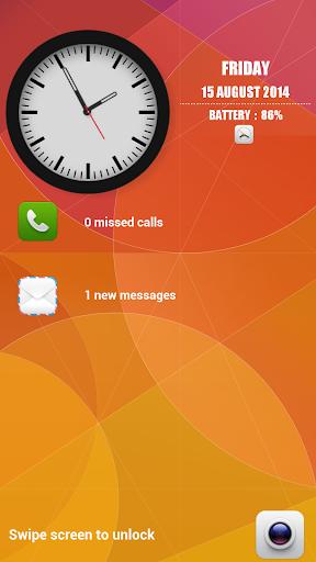 Analog Time Clock Lock Screen