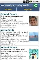 Screenshot of ICW -Personal Finance Magazine