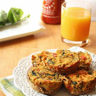 Vegan Spinach & Mushrooms Mini Quiches.