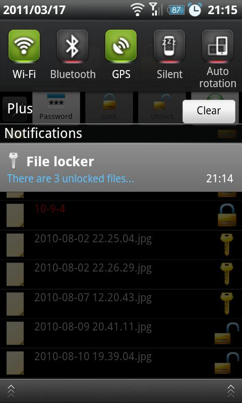 File Locker- screenshot