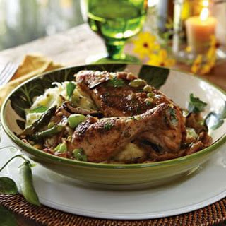 Spring Chicken Fricassee with Herbed Mashed Potatoes.