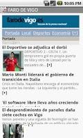 Screenshot of Prensa galega