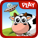 Barnyard UFO fun physics game icon