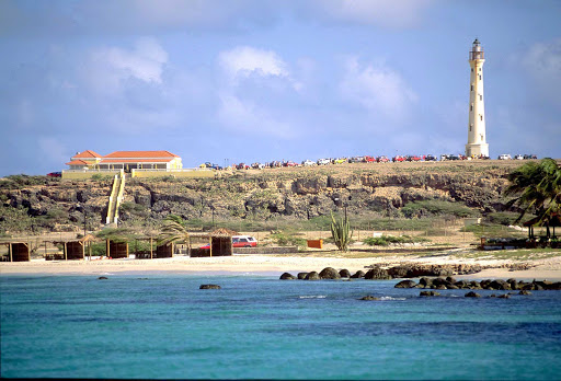 beach-lighthouse-Aruba - The California Lighthouse near Arashi Beach on Aruba.