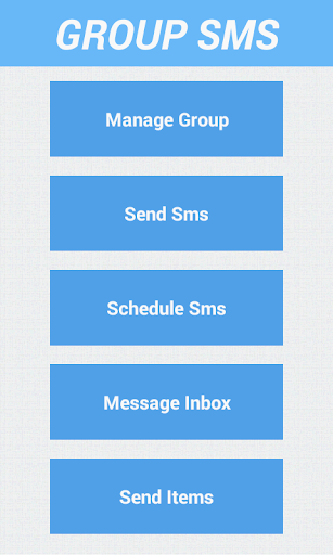 Group SMS Schedule SMS