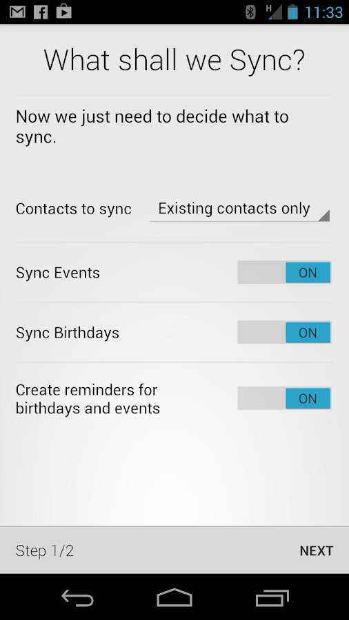 HaxSync for Facebook - screenshot