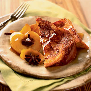 Sugar-Crusted French Toast with Honeyed Apples.