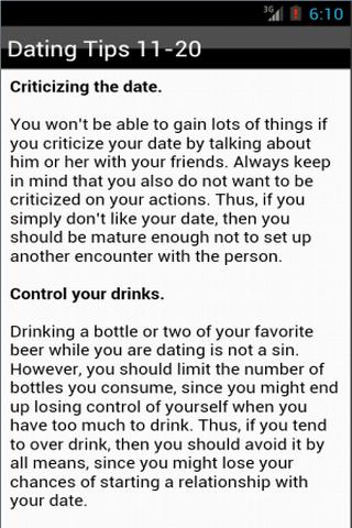 玩生活App|Dating Tips免費|APP試玩