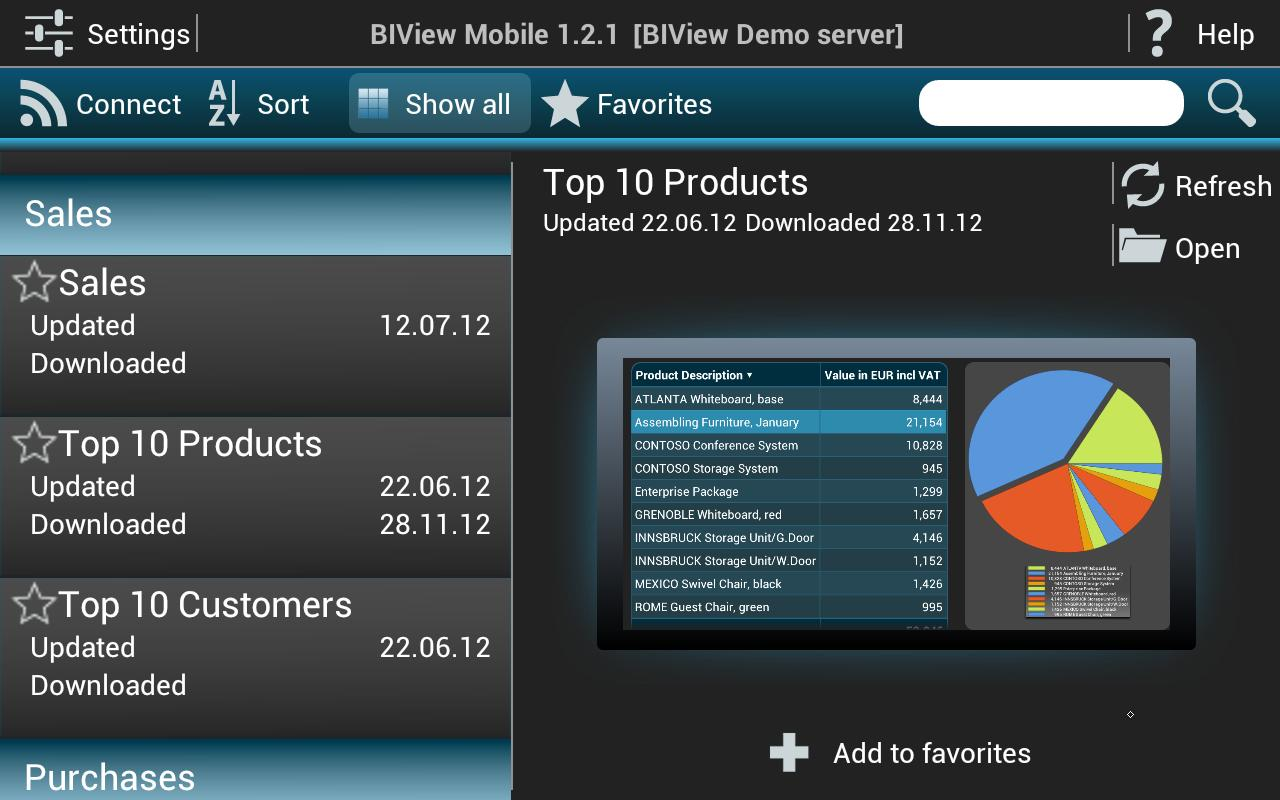 BIView Mobile- screenshot