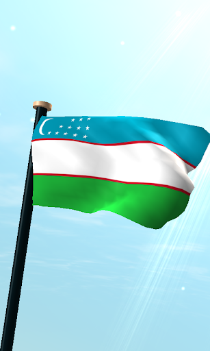ウズベキスタンフラグ3Dライブ壁紙