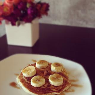 Banana Almond Pancakes.