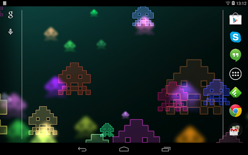 Space Invaders Live Wallpaper- screenshot thumbnail