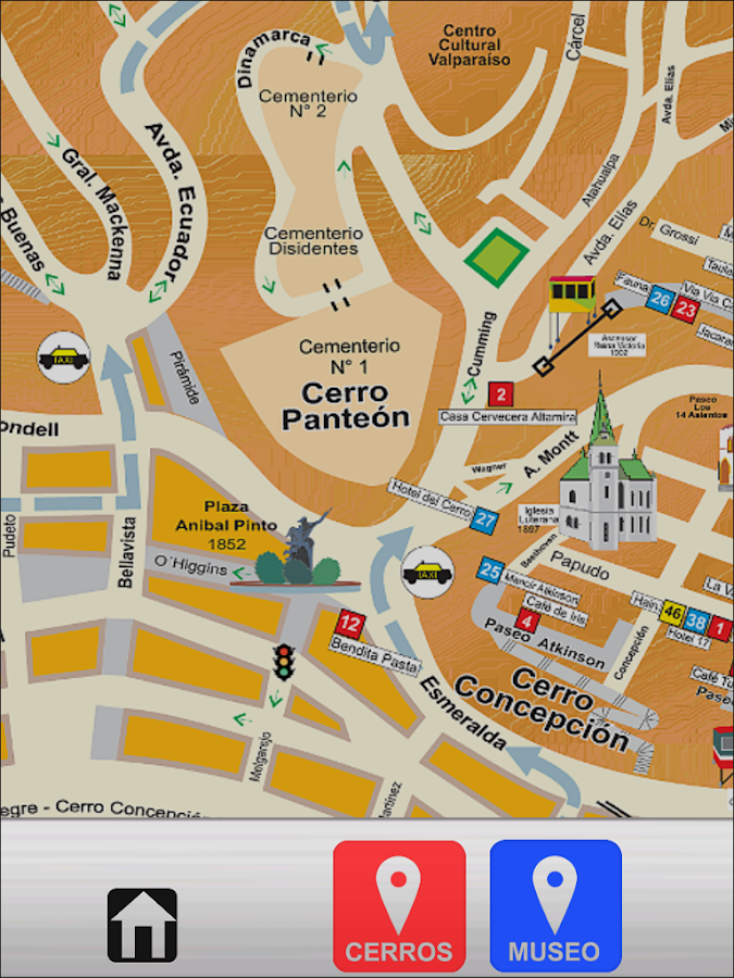 Valparaiso Map- screenshot
