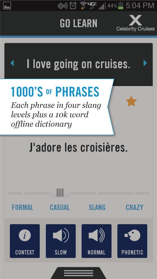 Cruise Lingo - screenshot