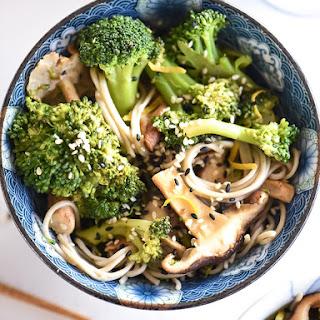 Broccoli and Shiitake Mushroom Soba Noodles.
