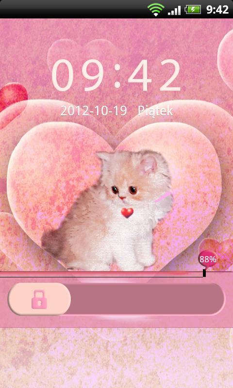 GO Locker Theme Kitty - screenshot
