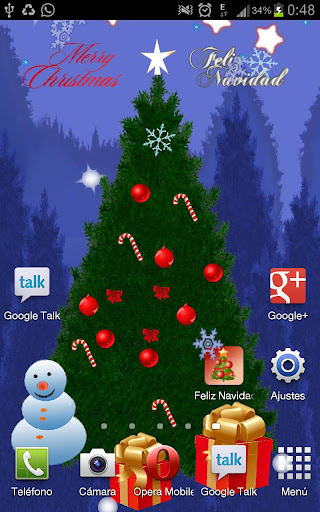 Xmas Tree Live Wallpaper Free