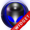 Poweramp Widget Blue Alien