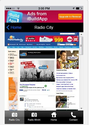 91.1 and 98.3 FM Hindi Radio - screenshot
