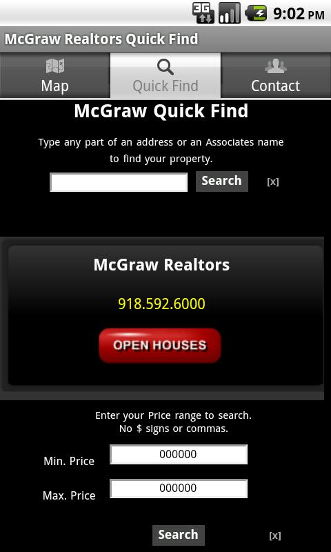 McGraw Realtors Quick Find - screenshot