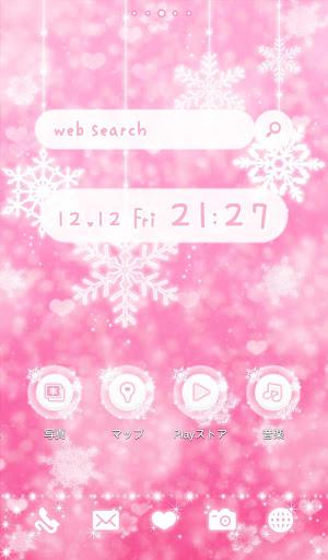 可愛換裝桌布★pink color snow