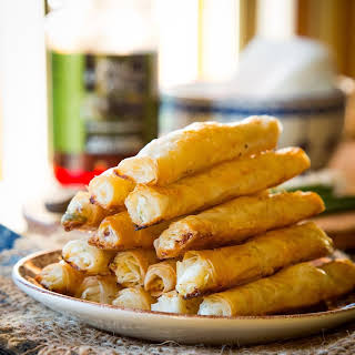 Feta and Olive Phyllo Cigars.