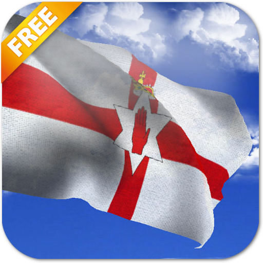 3D Northern Ireland Flag LWP LOGO-APP點子