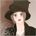 大人の女性ライブ壁紙(アナログ時計と振子)1日無料 icon
