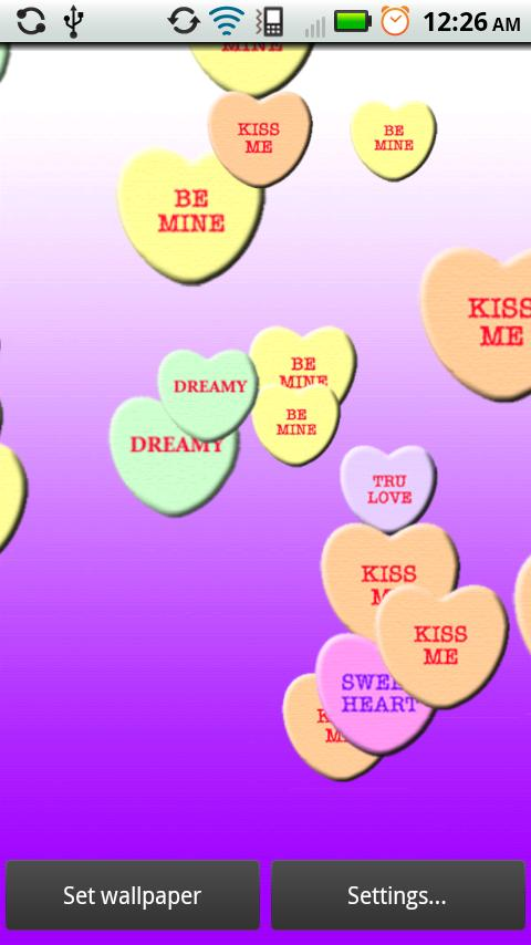 Candy Hearts Wallpaper Candy Hearts Live Wallpaper