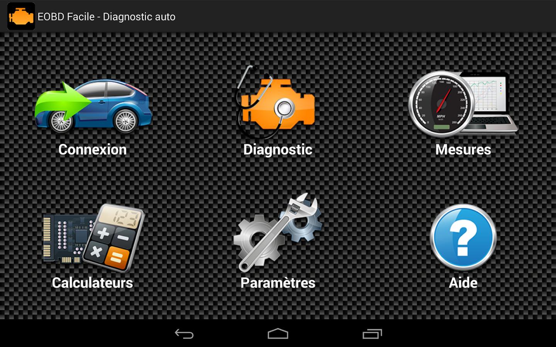 eobd facile diagnostic auto obd2 elm327 applications android sur google play. Black Bedroom Furniture Sets. Home Design Ideas