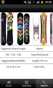 Snowboard Size Calculator - screenshot thumbnail