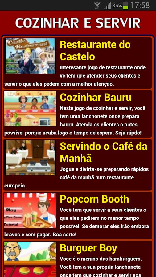 Jogos de Cozinhar e Servir - screenshot