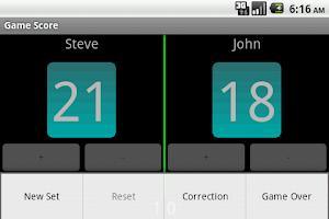 Screenshot of Game Score