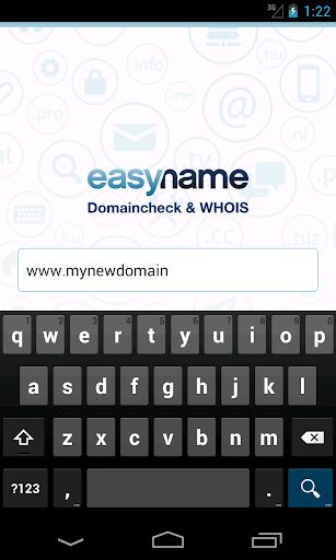 easyname Domaincheck WHOIS