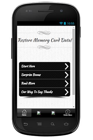 Restore Memory Card Data Guide