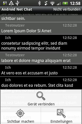 Bluetooth Net Chat - screenshot