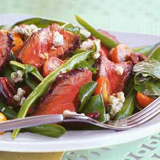Grilled Steak Salad with Green Beans and Blue Cheese.