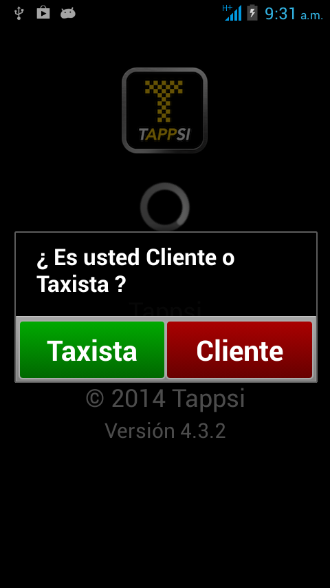 Tappsi Taxista - screenshot
