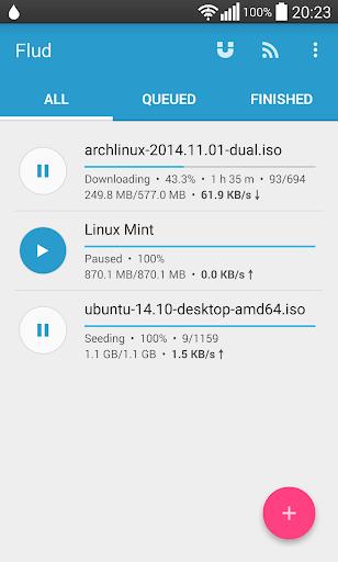 Flud - Torrent Downloader 1.4.9 screenshots 1