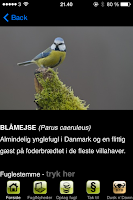 Screenshot of FugleApp