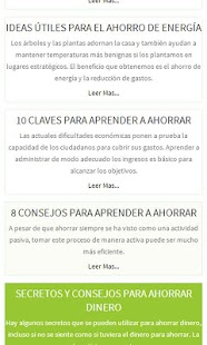 Ahorrar, Secretos y Tips - screenshot thumbnail