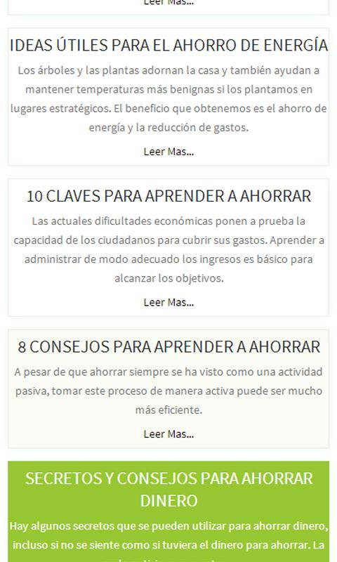 Ahorrar, Secretos y Tips - screenshot