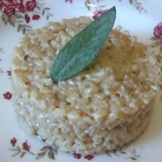 Risotto with Parmesan and white wine.