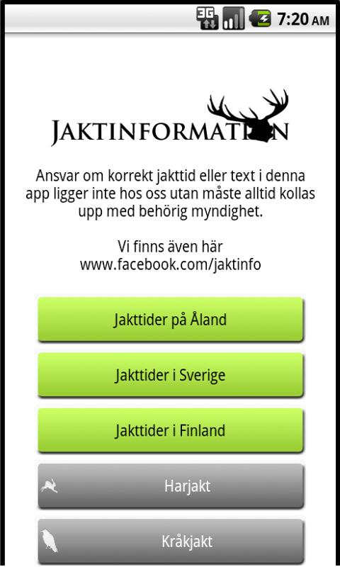 Jakt info Lite - screenshot