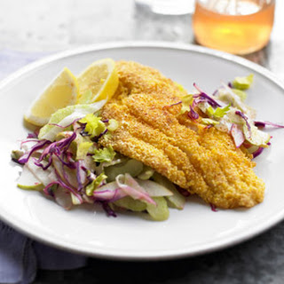 Crisp Catfish with Apple-Celery Slaw
