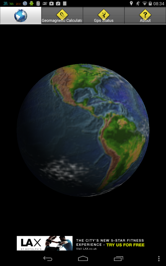 EarthGeoMagnetic Calculator 3D - screenshot