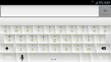 Screenshot of White and Green Keyboard Skin