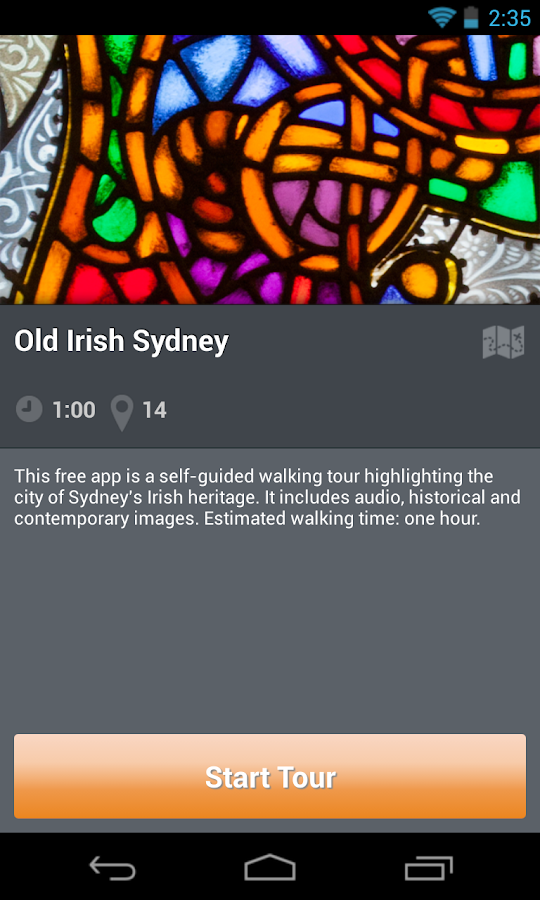 Dictionary of Sydney walks - screenshot