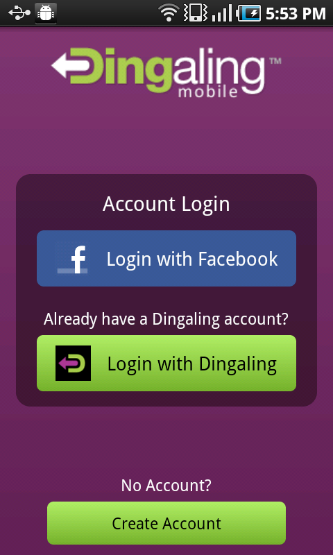 Dingaling Mobile - screenshot