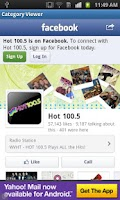 Screenshot of Hot 100.5